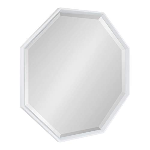 (Kate and Laurel Calter Modern Large Octagon Frame Wall Mirror, 31.5 x 31.5, White)