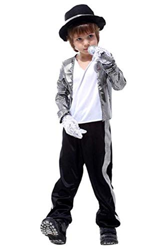 Kids Boys Halloween Costumes Michael Jackson Clothing Stage Performance Classic Theme Party Dancewear for $<!--$22.99-->