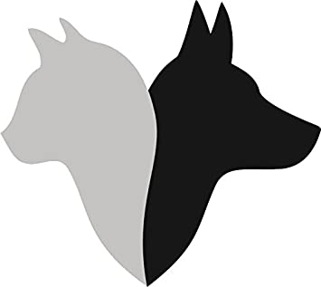 Amazon Com Simple Dog And Cat Silhouette Cartoon Icon For Pet Lovers Vinyl Decal Sticker 12 Wide 3 Automotive