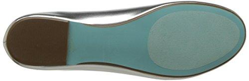 Blue Af Betsey Johnson Kvinders Sb-edith Ballet Flad Sølv / Metallic LHrEoTpu