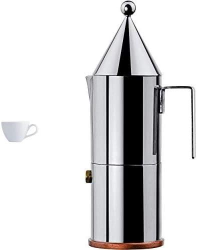 Alessi SG53/76 Mami - Taza de café (6 unidades), color blanco + Alessi La Conica - Cafetera italiana de acero inoxidable, 6 tazas: Amazon.es: Hogar