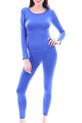 Women's Microfiber Fleece Thermal Underwear Long Johns AZ 2000 Blue 4X