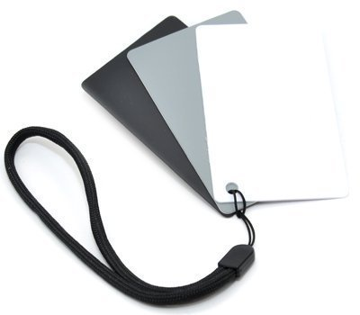 Kaavie 3 in 1 Pocket-Sized Reference Color & White Balance Grey Card Set With Quick-Release Neck Strap for Digital Photography GC-2