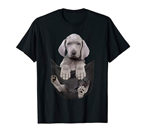 Weimaraner in the pocket - dog funny gift Costume t-shirt T-Shirt -