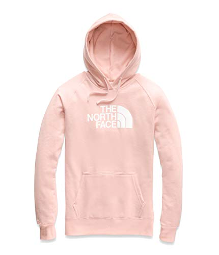 - The North Face Women's Half Dome Pullover Hoodie, Pink Salt/TNF White, Size M
