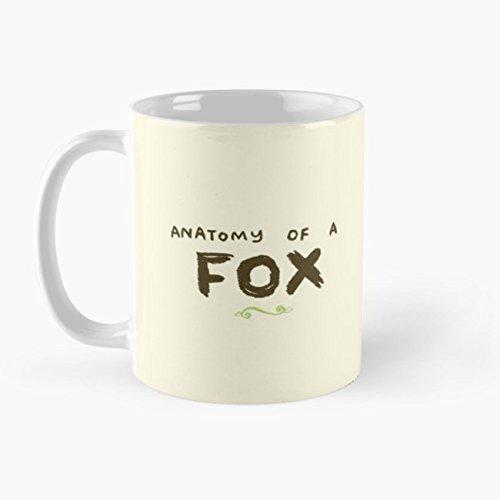 Anatomy of a Fox 11 Oz Coffee Mug