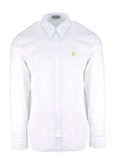 Dior Men's 923C518w8444081 White Cotton Shirt