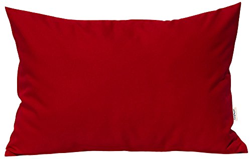 TangDepot Durable Faux Silk Solid Pillow Shams, Rectangle pi