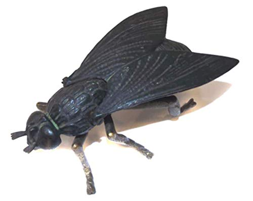 Brass Figural - Vintage Cast Iron & Brass Figural Housefly Fly Shaped Match Holder Safe
