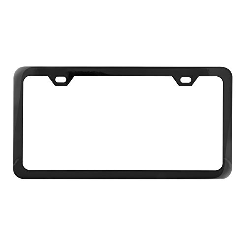 Grand General 60403 Black Semi-Gloss Powder Coated License Plate Frame with 2 Holes (Powder Coated Semi Gloss)