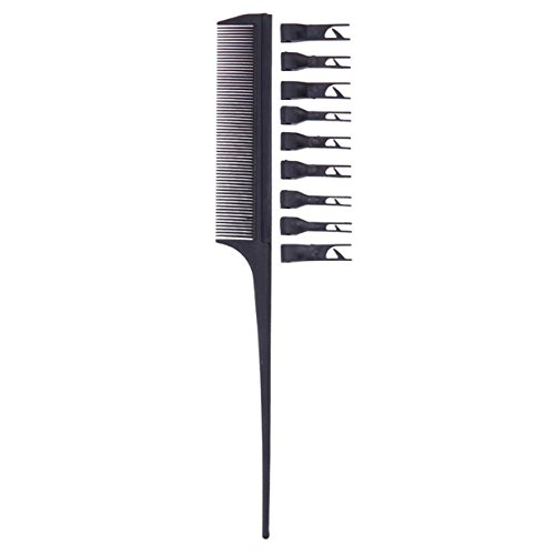 Round Set Hutch (1 Set Combs Hair Brush Hairdressing Double Side Dye Comb Anti Static Drying Tinting Color Styling Tools Combo Pocket Long Round Handle Holder Magnificent Popular Beard Natural Kids Travel Kit)