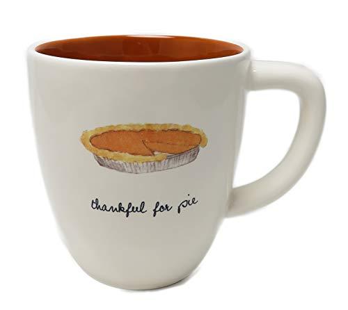 Rae Dunn by Magenta THANKFUL FOR PIE Mug Orange -