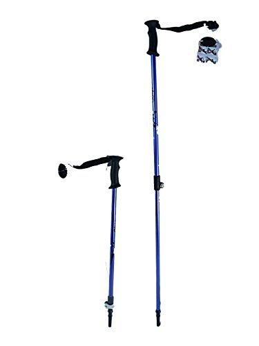 WSD Barra de esquí Speedlock Alpina/Downhill para niños de tamaño Juvenil Ajustable telescópico Polos de esquí par con cestas