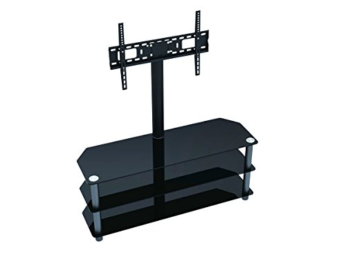 Monoprice TV Stand with Fixed TV Wall Mount Bracket - For TV