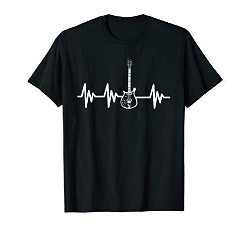 Electric Guitar Heartbeat - Guitar shirt - Guitar apparel