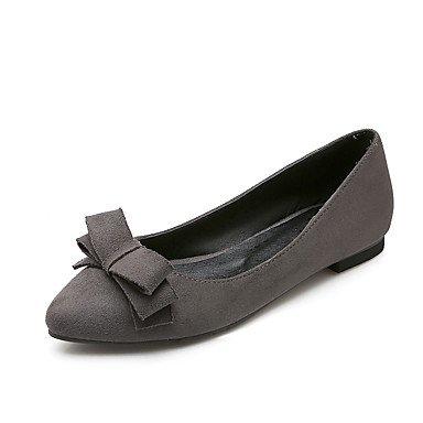Cómodo y elegante soporte de zapatos de las mujeres pisos comodidad de primavera verano otoño polar oficina y carrera Casual Athletic soporte de tacón con lazo negro rojo gris senderismo ciclismo send gris