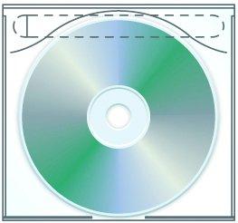 Tamper Resistant Adhesive CD | DVD Sleeve - Box of 1000 ()