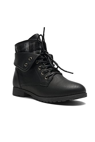 Herstyle Slgabrianna Expedition Wome's Military Combat Boots Black 9