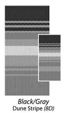 Carefree 80158D00 Black/Gray 15' Universal Replacement Fabric by Carefree