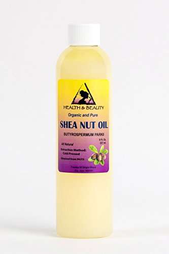 Shea Nut Oil Organic African Karite Oil Carrier Cold Pressed Premium Fresh 100% Pure 8 oz