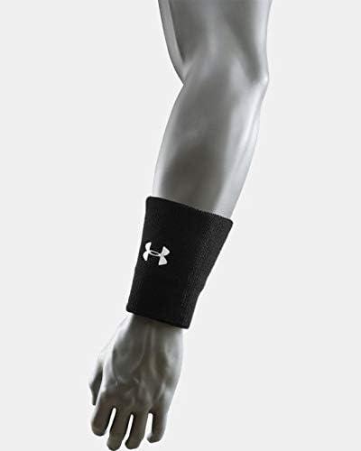 "Under Armour 6"" UA Performance Wristband 2-Pack OSFA Black"