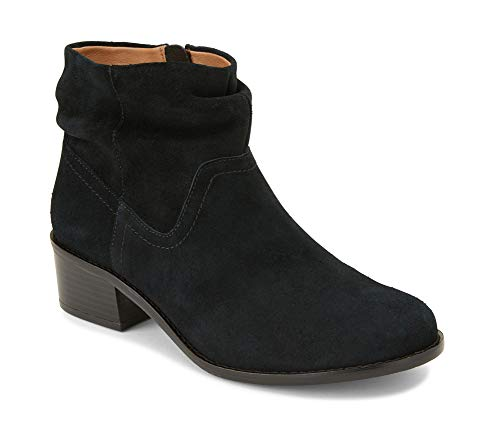 Vionic Women's Hope Kanela Boot - Ladies Bootie with Concealed Orthotic Arch Support Black 6.5 M US (Vionic Orthotic Suede Ankle Boots With Buckle Millie)