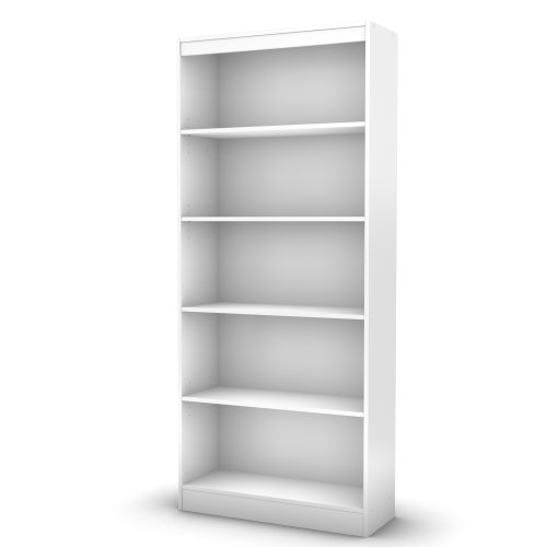 South Shore 5-Shelf Storage Bookcase, Pure - Inch Wide Bookcase 36