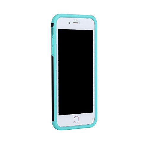 Rubberized Plastic + TPU Shock Protection Tasche Hüllen Schutzhülle Case für iPhone 7 Plus - baby blau / Black