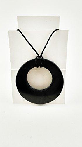 Shungite Pendant Double Circle Necklace: Guaranteed
