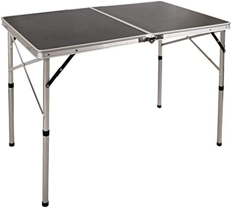 REDCAMP 3 Foot Folding Table with Adjustable Height Legs, Lightweight Portable Picnic Table for Outdoor Camping BBQ, 36 x 24 inches