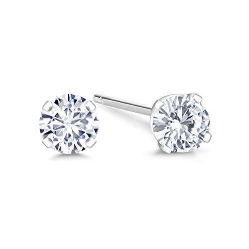 Vs1 Earring (IGI Certified 14K White Gold Lab-Grown Created Diamond Stud Earrings (1/5 Cttw, G-H Color, VS1-VS2 Clarity))