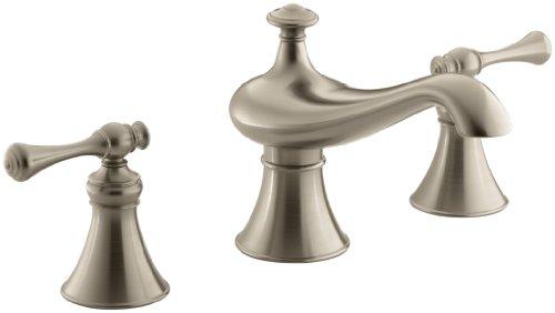 Af Revival Shower Faucet - KOHLER K-T16122-4A-BV Revival Bath-Mount High-Flow Bath Faucet Trim with Traditional Handles, Valve Not Included, Vibrant Brushed Bronze