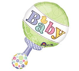 Green & Polka Dot Pastel Baby Rattle 19