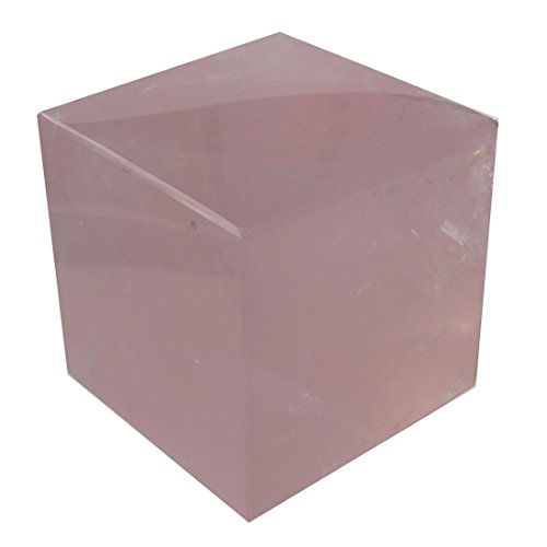 Rose Quartz Polygon 51 Clear Pink Crystal Cube Block Intense Love Finder Relationship Bedroom Stone 2
