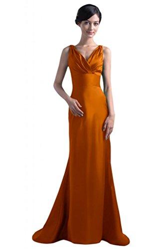 da Mother's da elegante cinghie Gowns donna cerimonia sera Spaghetti con o per V per Orange fodero scollo Sunvary a con abiti w6PqFAAU