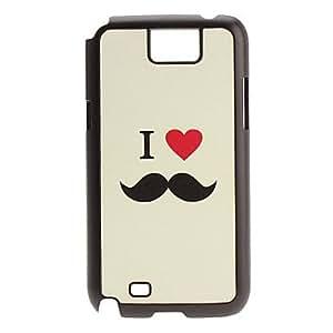 DUR Mustache Pattern Hard Case for Samsung Galaxy Note2 N7100