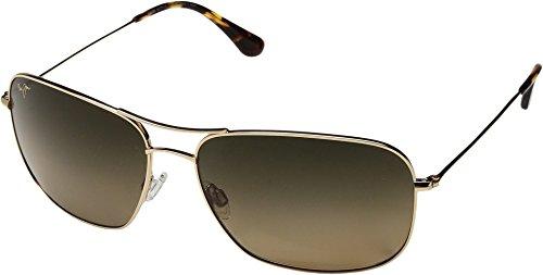Maui Jim Sunglasses Gold Shiny/Bronze Titanium - Polarized - - Sport Maui Jim Titanium