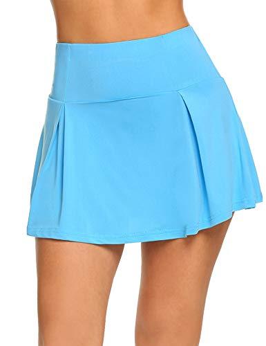Guteer Women's Active Skort Casual Pleated Skirt for Running Tennis Golf Workout Blue