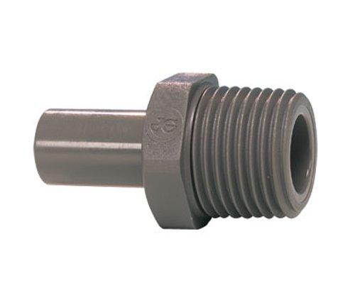 Bspt Thread (John Guest Stem Adaptor 1/2 inch Stem x 1/2 BSPT Thread (one supplied) by John Guest)