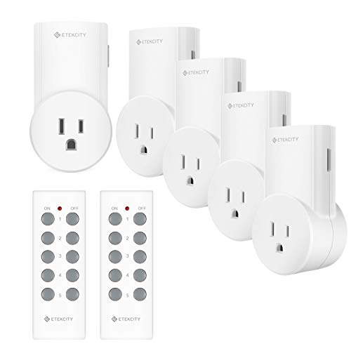 Etekcity Wireless Remote Control Outlet Light Switch for Lights