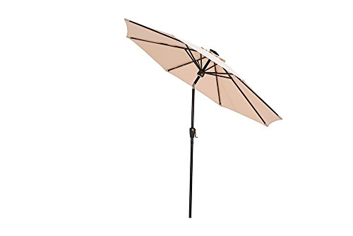31%2B1fIryr%2BL - Sunjoy 9' Prescott Umbrella Made of Steel & Fabric with LED Lights & Audio Equipment