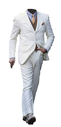 Great Gatsby Suits (Leonardo Dicaprio Great Gatsby 3 Piece White)