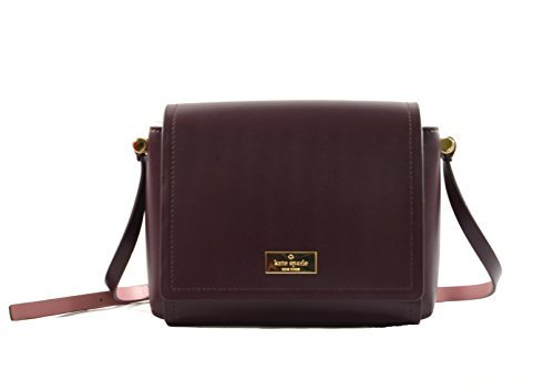Kate Spade Avva Arbour Hill Smooth Leather Crossbody Bag Purse Handbag (mahogany)