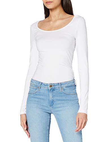 VERO MODA Dames Vmmaxi My Ls Soft Long U-Neck Noos' shirt met lange mouwen