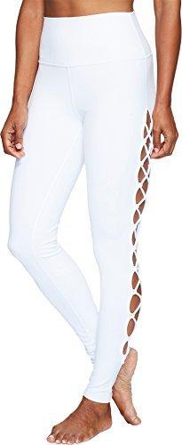 Alo Yoga Women's Interlace Legging, White, X-Small - Interlace Panel