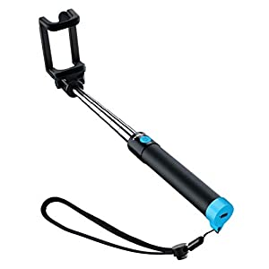 Mpow Selfie Stick Bluetooth, Lightweight Extendable 31.9 Inch Monopod with Bluetooth Remote Compatible iPhone 11/Pro Max/XS/Max/XR/X/8/8P/7/7P/6S, Galaxy S10/ S9/8/7/6/Note 10 and More, Blue