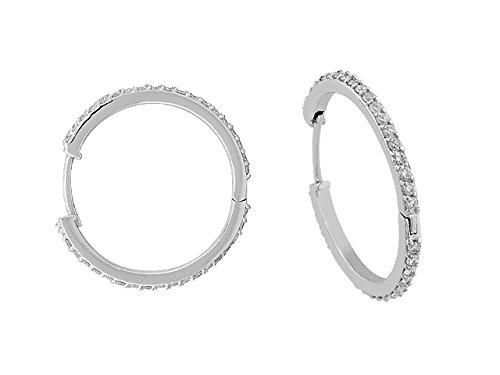 Boucles d'Oreilles Diamants-Femme- or Blanc 215E0006