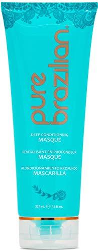 (PURE BRAZILIAN Deep Conditioning Masque - Deep Conditioner Hair Treatment With Brazilian Keratin, Acai, and Arginine (8 Ounce / 236 Milliliter))