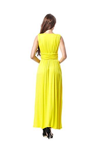 Dress Maxi Sun Yellow Women's Your Prince Charm Sleeveless Summer qX80qHaY