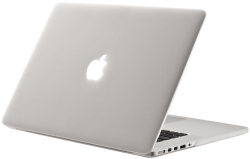 Case Plastic White (Kuzy Rubberized Hard Case for Older MacBook Pro 15.4